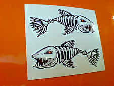 Esqueleto De Pescado bonefish van parachoques del coche Caravana Sticker Decal 2 Off 95mm