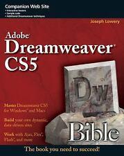 Adobe Dreamweaver CS5 Bible Lowery, Joseph Paperback