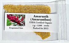 1200 USDA Organic Amaranth Grain Sprouting Seeds Non GMO Freshly Packed For 2016