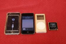 Mixed Lot of 4 Apple iPod - iPod Touch 8GB Classic Mini 4GB Nano 16GB - Working