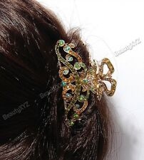 New Fashion Rhinestone Butterfly-water drop high quality metal Hair claws clip 9