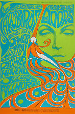 Fillmore Poster BG-75 BG75 the DOORS yardbirds SIGNED Bonnie MacLean FD BG AOR