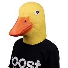 Deluxe Novelty Halloween Costume Latex Duck Head Mask Adult Size