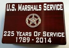 US Marshals Service USMS 225 Yrs of Service Piano Wood MultiPurpose Desk Box