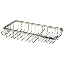 Large Soap Shower Basket With Hooks Bathroom Chrome Wire Work Accessories H809