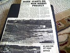 67-3  ephemera 1974 picture article new homes millmead road margate work starts