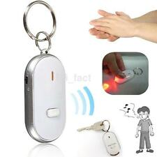 White Alarm Locator Tracker Lost Keys Finder Whistle Sound Control LED Seeker