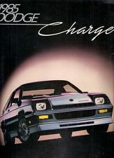 Dodge Charger 1985 USA Market Sales Brochure 1.6 2.2 Shelby