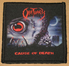 "OBITUARY ""CAUSE OF DEATH"" silk screen PATCH"