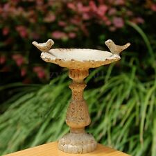 Dolls House Miniature Fairy Garden Furniture Resin Bird Bath Fountain 1:12 Scale