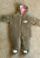 Carter's Super soft plush baby girl's snowsuit Worn once! 3-6 months monkey