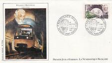 Enveloppe 1er Jour UZEL-PRES L'OUST 17/01/1987 Fulgence Bienvenue illus. Rémy