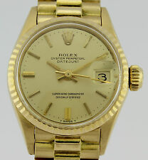 ROLEX OYSTER PERPETUAL DATEJUST 18K GOLD LADY