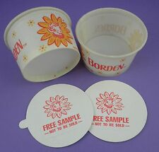 Pair of Free Sample  Elsie Borden's Ice Cream Cups - from Unused 1960s Stock