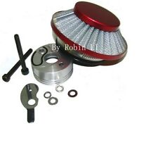 Red RACING AIR FILTER KIT Vstack Choke Velocity Stack For Goped 23cc Bigfoot
