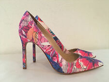 NEW MANOLO BLAHNIK BB 105 POINTY TOE FLORAL HEEL PUMP SIZE 38/7.5 US $695+