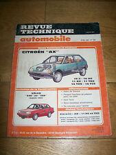 REVUE TECHNIQUE AUTOMOBILE n° 478 avril 1987 CITROËN AX VOLVO 340 360