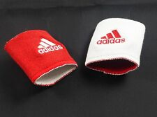 NEW adidas - White/Red Reversible Logo Wristbands (OSFA) 4 Charity
