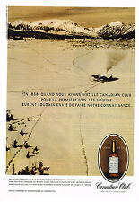 PUBLICITE ADVERTISING 074  1990  CANADIAN CLUB   whisky