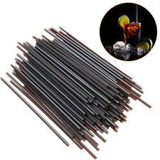 100Pcs Black Plastic Mini Cocktail Straws For Celebration Drinks Party Supplies