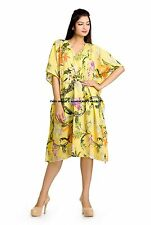 100% Cotton Women's Yellow Short Spa Gown Kaftan Bath Robe Party Wear Dress Maxi