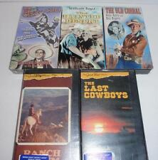 (Lot of 5) Various Western VHS Movies (Autry, Rogers, Boyd, the Cisco Kid, PBS)