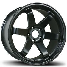 Avid1 AV06 17x8 +35 18x9.5 +38 5x114.3 Matte Black Toyota MR2 SW20 Staggered