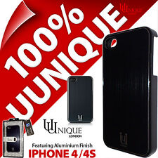 New Uunique Aluminium Case Hard Shell Cover For iPhone 4 / 4S Black Metal