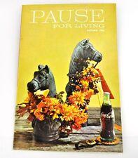 Coca-Cola Coke Rupture pour Vivant Magazine Livre USA Edition Automne 1966