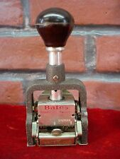 Vintage BATES NUMBERING MACHINE STAMP 6 Wheel Style E 767288 Consecutive Repeat
