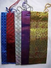 12 Holographic Gift Wine Bottle Bags - Asorted Colours -  GOLD, SILVER & RED