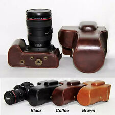New Retro Vintage Leather Camera Case Bag for Canon EOS 5D Mark III II +tracking