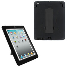 Black Hybrid Case Rugged Shockproof Full Cover Body Skin For Apple iPad 2 3 4