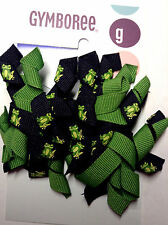 Gymboree Vintage DANDELION WISHES 2 Frog-Ribbon Clip/ Barrettes Curly NWT LOOK