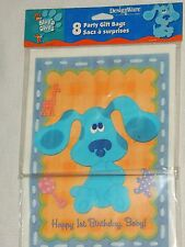 BLUES CLUES 1st BIRTHDAY  8-LOOT BAGS  PARTY SUPPLIES