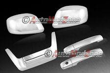 Fit 05-15 Nissan Frontier Chrome 2 Door Handle+Low Tailgate+Mirror Covers Combo