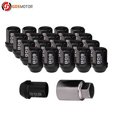 GDS 20 Black M12x1.5 Racing Wheel Lug Nuts 35mm Close End for Honda Civic Toyota
