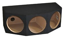 "Triple 12"" Sealed Subwoofer Box Sub Enclosure 12 Inch, 1"" Baffle -Angled Design"