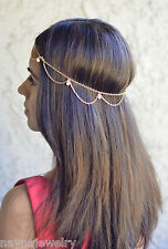 Jewelry Pearl Headpiece Great Gatsby Gold Draped Hair Jewelry Halloween Costume