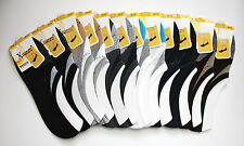 12 Pairs Men Cotton Invisible No-Show Loafer Boat Non-Slip Low Cut Socks 10-13 #