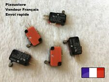 5 Interrupteurs Microswitch OMRON 15A KW-7 à rouleau court Made in Japan neufs