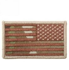 American Reverse Flag Morale USA US Army Military Hook & Loop Patch Multicam