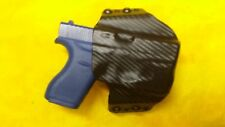 HOLSTER BLACK CARBON KYDEX For GLOCK 26 gen 4 With Streamlight TLR-6