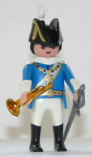 FRENCHMAN HUSAR TROMPETER Playmobil to Guard Napoleon Rider Soldier Blue rock