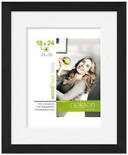 Nielsen Apollo Matt Black Wood Picture Frame 30 x 40 cm A4 Mount
