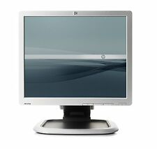 "HP L1750 17"" HD LCD TFT MONITOR WITH STAND BLACK SILVER FOR OFFICE COMPUTER CCTV"