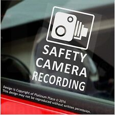 4 x SAFETY Camera Recording Warning Stickers-60mm CCTV Sign-Car,Taxi,MiniCab Van