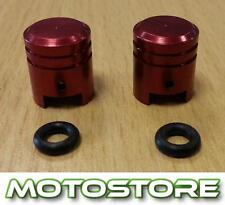 PAIR OF RED PISTON VALVE CAPS FITS YAMAHA XT660X 2007-2013