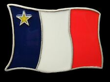 ACADIAN ACADIA ACADIEN UNISEX  FLAG BELT BUCKLE BOUCLE DE CEINTURE