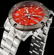 Invicta Men's Specialty Japanese Chronograph Red Dial Gunmetal Bezel IP SS Watch
